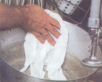 Food service towels and wipers. Scrubbint food prep cloths for wet cleaning for tables and counters